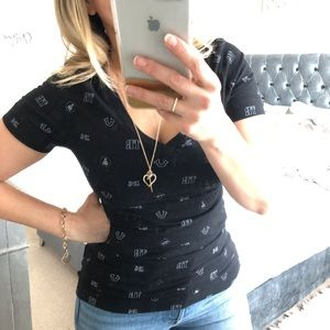 3/20 🍁 True Religion Black V Neck T-Shirt Sz S